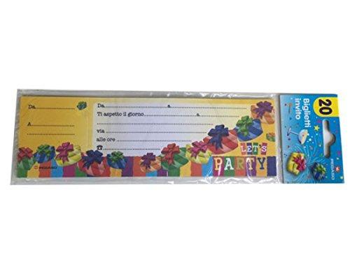 Pegaso mémo 20 invitations à la fête pegaso