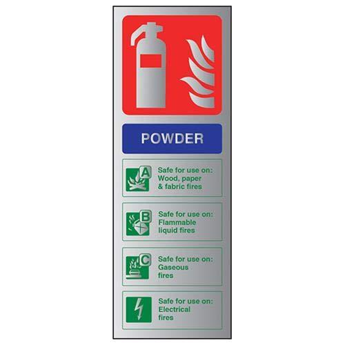 VSafety brandblusser-poeder-ID teken 100mm x 280mm