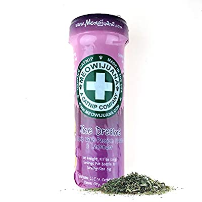 Meowijuana | Organic | Dried Premium Ground Catnip | High Potency Cat Treats | Perfect for Cat Toys | Grown in The USA | Feline & Cat Lover Approved (Mice Dreams, Single Pack)