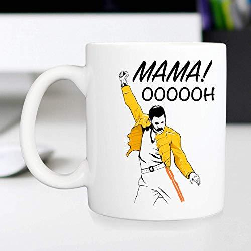 Tazas para ti - Taza de Freddie Mercury para regalo del día de la madre / Mensaje de mamá personalizado en una taza de café de Freddy Mercury / Cita divertida de mamá / Para tu mamá o mamá - Taza de c
