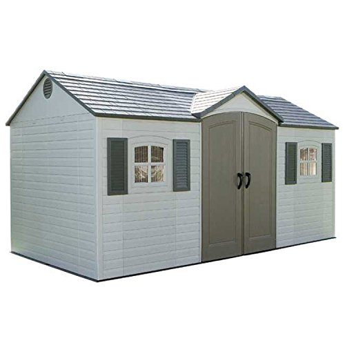 Storage Shed, Side Entry With Windows, 15' X 8' -  Lifetime Products, 6446269513