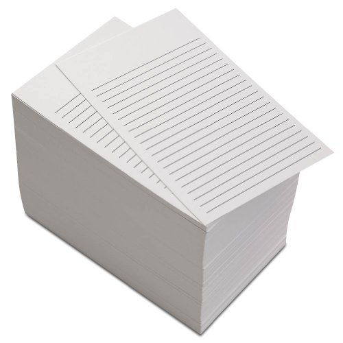 Levenger 300 Non-Personalized 3x5 Cards - White Ruled (ADS6780 RL)