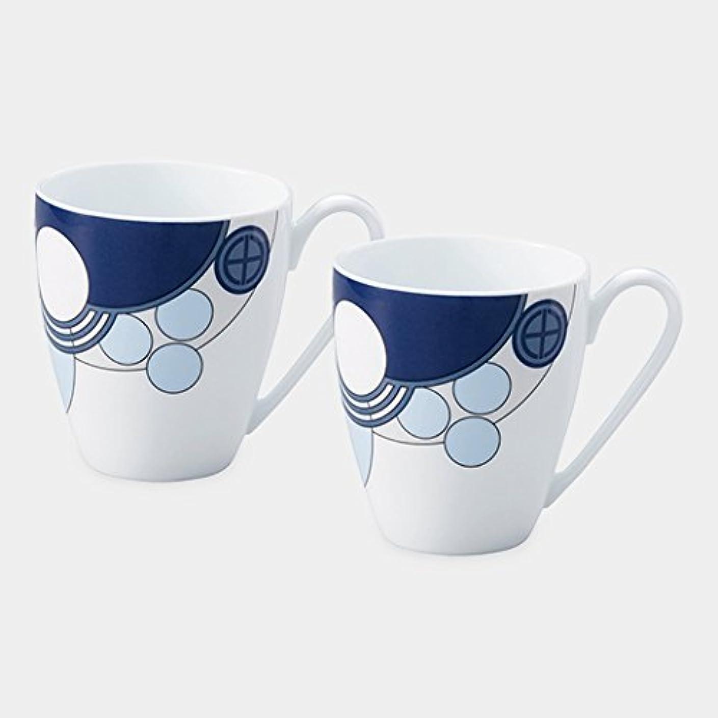 シングル噂試すノリタケ(Noritake) マグカップ マルチ 容量:約330ml Noritake インペリアルブルー マグペアセット WP94957/1701
