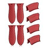 8 PCS Cast Iron Handle Cover, Non Slip Skillet Handle Covers Silicone Handle for Cast Iron Skillet,...