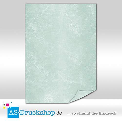 Marmeren papier - Ambrato - Jade-groen / 50 vellen/DIN A5 / 150 g offsetpapier