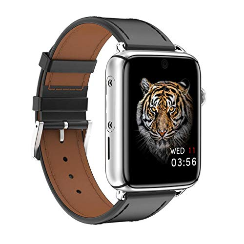 Dm20 3gb 32gb Smart Watch, Fitness Tracker,2021style, with Oxygen Saturation, Bluetooth Call, Children's Male and Female Pedometer,Removable Strap(Silver + Black Leather)