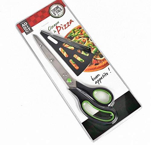 SZTUCCE 1 PC Pizza Scissor Cutter Scissor Scissor Cut Pizza con espátula Desmontable (Color : Green)