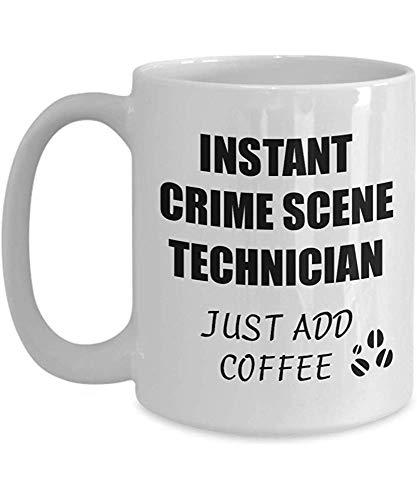 Tatort-Techniker-Becher-sofortige addieren gerade Kaffee-lustige Geschenk-Idee für Mitarbeiter-anwesenden Arbeitsplatz-Witz-Büro-Tee-Schale