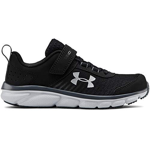 Under Armour Kids' Pre School Assert 8 Alternate Closure Sneaker, Black (001)/Pitch Gray, 1