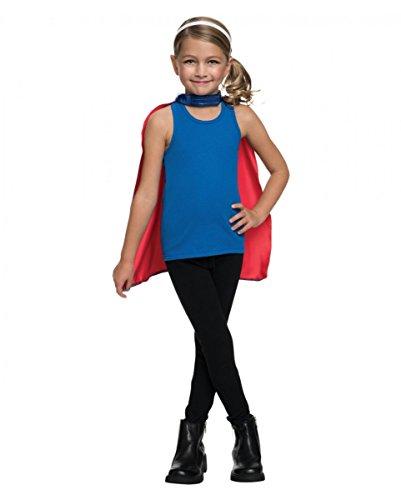 Horror-Shop Supergirl Maske & Umhang Set One Size