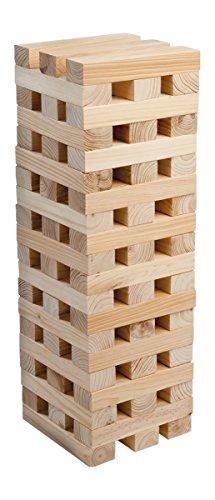Small Foot 3451 XXL Torre bamboleante Grande de Madera, versión Interior más Grande, 60 Piezas, 20 x 4,5 x 2,5 cm