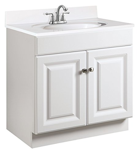 Design House 597120 Wyndham Unassembled Bathroom Vanity Cabinet without Top, 8-Inch Widespread, White