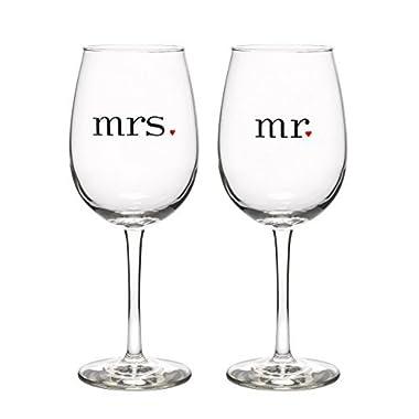 Canopy Street Mr & Mrs Wine Glasses Set of 2