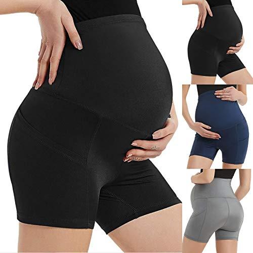 Rouped Leggins Mujer,Leggins Push up Mujer,Premamá Leggins Pantalones Cortos Shorts Maternidad Ropa Verano Mujer,R0330-YL01
