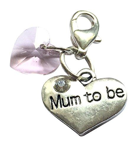 Hecho a mano hermoso 'Mum To Be' Clip en encanto con cristal...