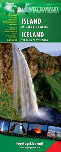 Islandia, mapa de carreteras impermeable. Escala 1:500.000. Freytag & Berndt.: Wegenkaart 1:500 000