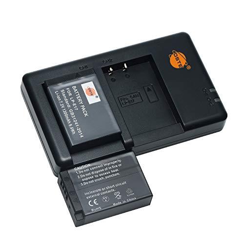 LP-E17 Full Coded (2 pezzi) Batteria di ricambio ricaricabile e doppio caricatore compatibile con Canon EOS-X8I,750D,760D,800D,850D,200D,200DII,77D,M3,M5,M6,RP,EOSS-Rebel-SL3 Digital SLR