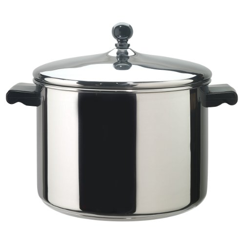 Farberware 50006 Classic Stainless Steel Stock Pot/Stockpot with Lid - 8 Quart, Silver