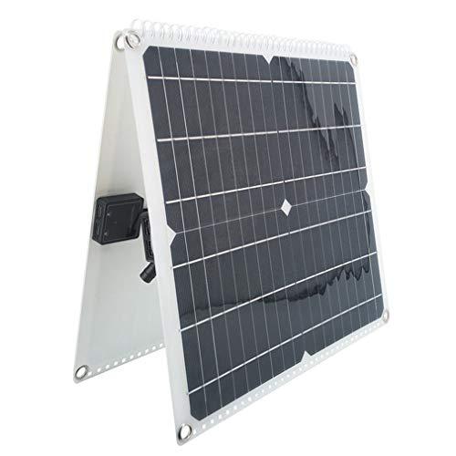 WXZQ Panel Solar monocristalino Plegable de 50 W, Tablero de Carga Solar para Exteriores, Montaje de Panel fotovoltaico de Almacenamiento de energía, Negro