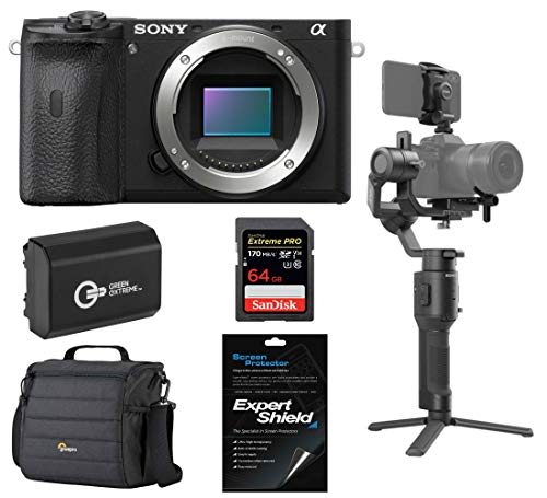 Sony Alpha a6600 Mirrorless Digital Camera Body Only (ILCE6600/B) Gimbal Bundle with DJI Ronin SC and Accessories