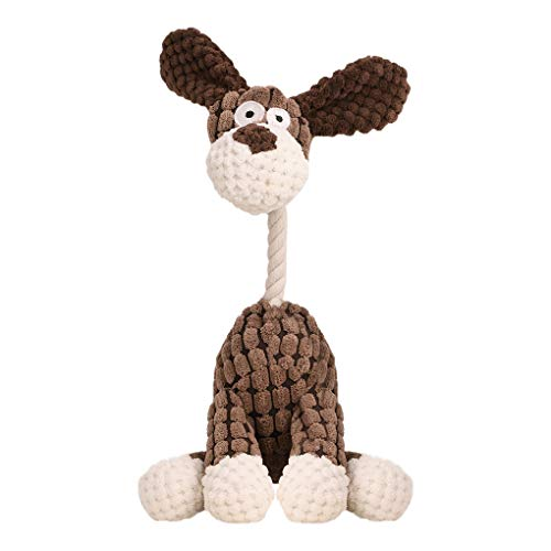 RUIXIB Plüsch Hundespielzeug Quietschspielzeug, Hund Zahn Reinigung Spielzeug Spiel Spaß Interaktive Kauen Spielzeug Durable Squeaky Sound Toy für Begleiten Schulung Beschwichtigen