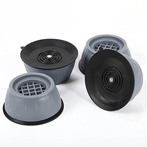 JGHGO 4PCS Anti Vibration Washing Machine Support, Shock and Noise Cancelling, Anti Slip Laundry Stand Stabilizer Mat, Washing Machine and Dryer Noise Reduction Feet Pads