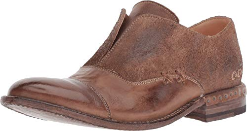 Bed|Stu Rose Women's Loafer - Distressed Leather Slip-On Loafers for Women - Tan Rustic Mason BFS