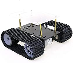 DGJYT 2021 Professional Track Crawler Chassis, Smart RC Robot Tank Car Chassis for Arduino/Raspberry pi Starter Kit, Robot...