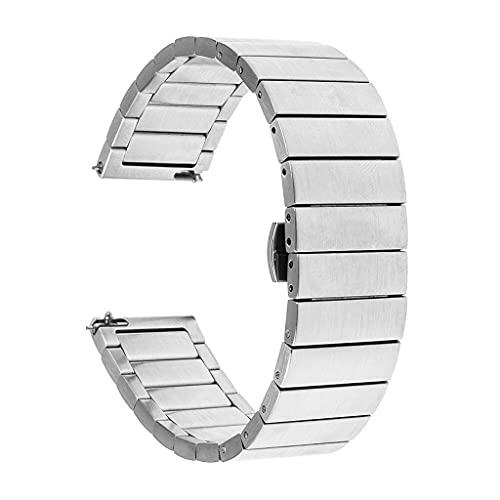 YSMLL 18 mm 20 mm 22 mm Reloj de banda de reloj de acero inoxidable universal Reloj de 46 mm 3 Gear S3 Correa de repuesto Pulsera (Color : Silver, Size : 20mm or S2)