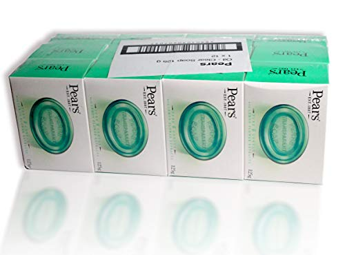 Pears Soap – aux extraits de fleurs de citron. Savon Vert Transparent Authentique - Lot de 12bars, 125g chacun (Lot de 12)