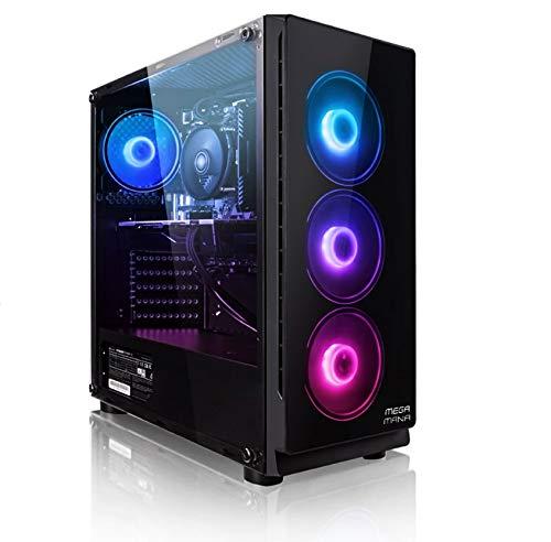 Megamania PC Gaming AMD Ryzen 5 3400G, Ordenador de sobremesa 4.2GHz Turbo Quad Core | 16GB DDR4 | SSD 480GB | Gráfica AMD Radeon Vega RX 11 | WiFi Dual Band