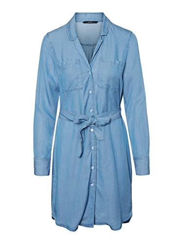 VERO MODA Damen Minikleid Mini Jeans MLight Blue Denim