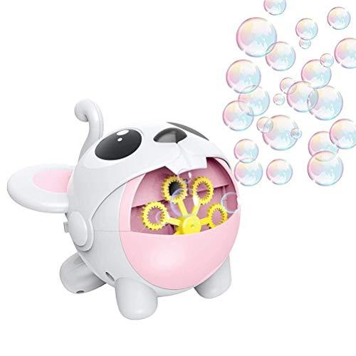 Lewpox Burbujas de Burbujas Completamente automáticas, Máquina de Burbujas de Animales de Dibujos Animados, Fabricante de Burbujas de automóviles portátil para al Aire/al Aire Libre