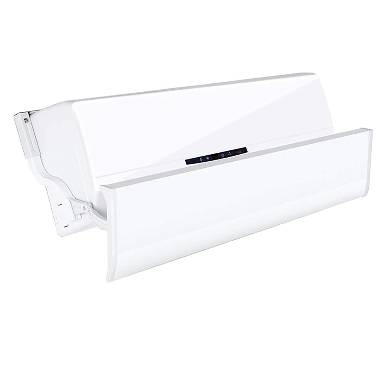 Central Air-Conditioning Wind Deflector, Anti Direct Blowing Plastic Steel Wind Shield Cold Wall-Mounted Air Guide Plate (Size : 80-86cm)