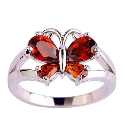Butterfly Knuckle Stacking Rings for Women Boho Vintage Finger Rings Stackable Set Creative Personalized Engagement Rings for Women Weedding Rings Valentine's Day Present(12,H)