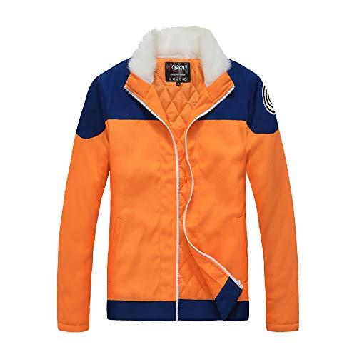 HOLRAN Naruto Uzumaki Naruto Cosplay Costume Thick Orange Jacket Hoodie (X-Large, Orange)