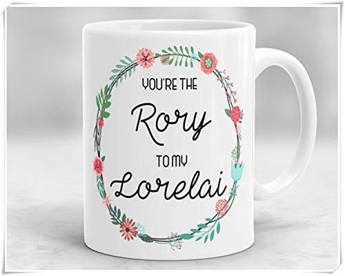 N\A Sie sind die Rory to My Lorelai Tasse, Gilmore Girls Mug, Gilmore Girls Themed Cup, Hochglanz-Kaffeebecher