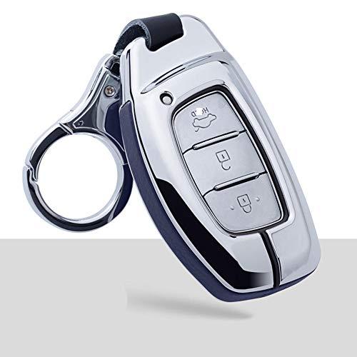 NUIOsdz Funda de Cuero 2020 Nueva para Llave de Coche, Carcasa para Llave de Coche, para Hyundai I30 IX35 HB20 Solaris Rucson Accent Santa FE Protection
