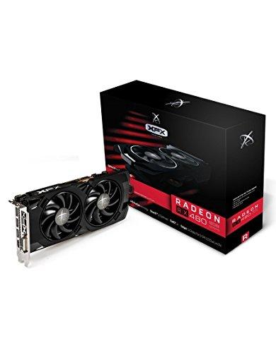 XFX RX-480P8LFB6 Radeon RX 480 Core Edition Grafikkarte (8 GB, GDDR5) Schwarz
