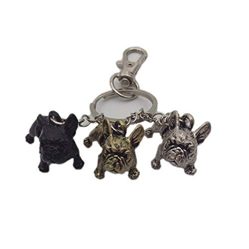 Womens Mens Keychain French Bulldog Keychain Animal Pet Memorial Jewellery French Bulldog Keychains Key Rings 4