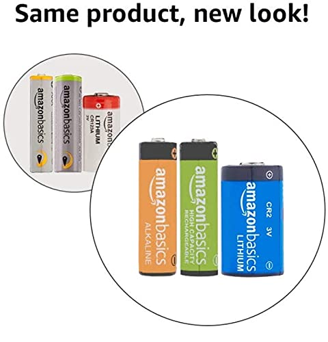 Amazon Basics 16 Pack AA Performance-Capacity 2,000 mAh Rechargeable Batteries, Pre-Charged, can be recharged 250+ times