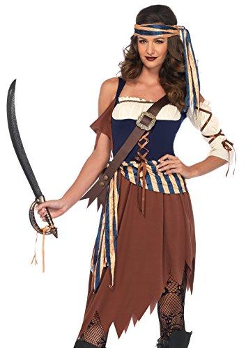 LEG AVENUE 85621 - 4 Tl. Kostüm Caribbean Schiffbrüchiger, Damen Karneval Kostüm Fasching, M