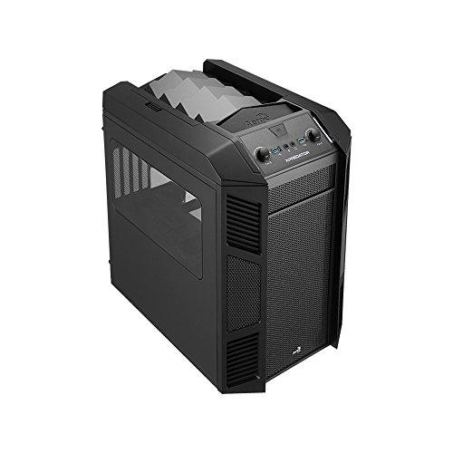 Aerocool EN52827 Xpredator Cube PC-Gehäuse (Micro-ATX, 1x 5,3 Zoll Externe, 3X 3,5 Zoll interne, 2X USB 3.0) schwarz