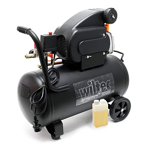 WilTec - Compresseur d'air comprimé 50L 8bar
