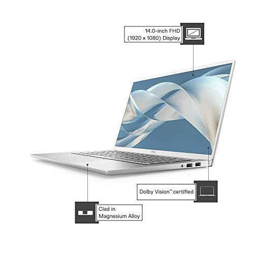 DELL Inspiron 7490 14-inch (35.56 cms) Laptop (10th Gen Core i5-10210U/8GB/512GB SSD/Window 10 + Microsoft Office/NVidia 2GB MX250 Graphics), Silver