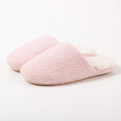 Zapatillas de Felpa Acolchadas para Interiores de Invierno,Zapatos abrigados de invierno para...