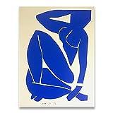 Arte abstracto Francia Henri Matisse cartel desnudo azul impresiones impresas cuadro de pared familia sin marco lienzo pintura C 60x80cm