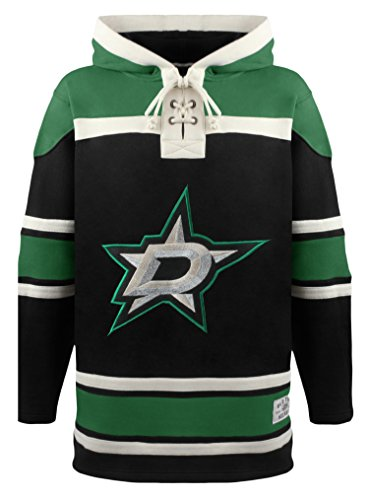 Old Time NHL Dallas Stars Men's Alternate Lacer Heavyweight Hoodie, 3X-Large, Black
