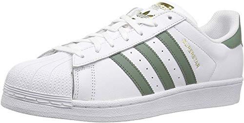 adidas Superstar, Zapatillas para Correr para Hombre, Blanco/Verde Trace/Dorado Metálico, 10.5 M US