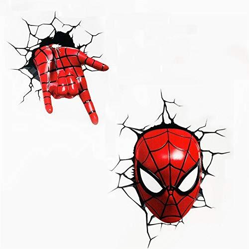 Personalidad Creativa Spiderman Coche Pegatinas de Coche Puerta de Coche Bloqueo Bloqueo Rasguños Pegatinas Decorativas (Color : 1)